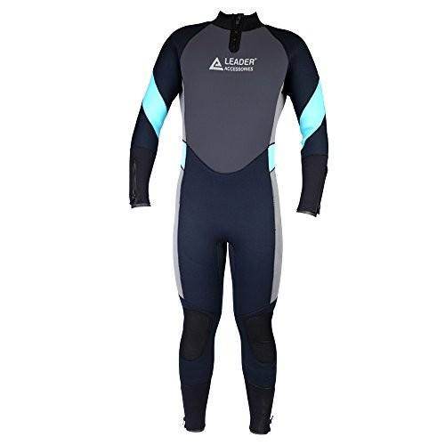 リアル Leader Accessories Men's 5mm Diving Black/Aqua Blue/Gray Wetsuit for 5mm for Scuba Diving Fullsuit Jumpsuit 並行輸入品, もみじや家具:cc8ad813 --- airmodconsu.dominiotemporario.com