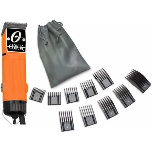 New Oster Classic 76 Orange Color Limited Edition Hair Clipper+10 PC Comb Set 並行輸入品