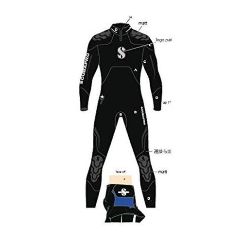 素晴らしい品質 Scubapro Everflex Steamer 7/5 mm Men's Wetsuit - Black - 4XLarge 並行輸入品, 龍野市 f19e23c2