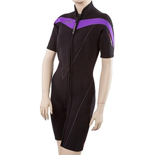 ★決算特価商品★ Henderson Thermoprene 3mm Womens Front Zip Wetsuit 12 Tall Black/Dark Purple 並行輸入品, AGコーポレーション 7b6113b3