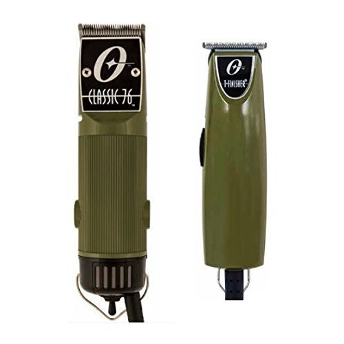 Oster Classic 76 Professional Clipper Olive Green Color + T-Finisher Pro 並行輸入品
