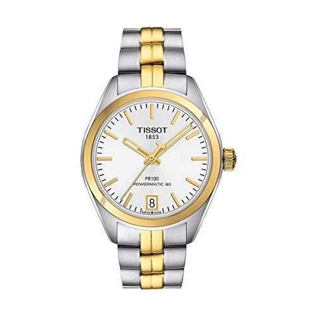 【最安値挑戦!】 ティソ Tissot PR 100 Automatic Silver Dial Ladies Watch T101.207.22.031.00 並行輸入品, 泰国屋 d2ba8d80