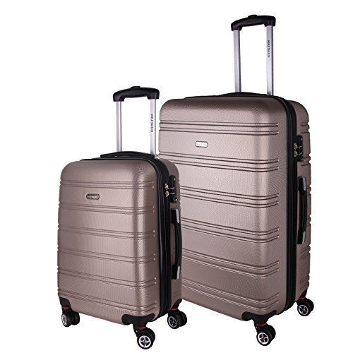 【好評にて期間延長】 World Traveler Bristol II Hardside 2-Piece Spinner Luggage Set, Champagne【並行輸入品】, ナントウチョウ 6e563595