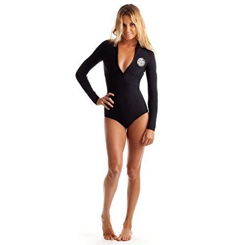 大流行中! Rip Curl G Bomb Long Sleeve Spring Suit Hi Cut, Black/Black, Size 6 並行輸入品, カマガヤシ 7c774449