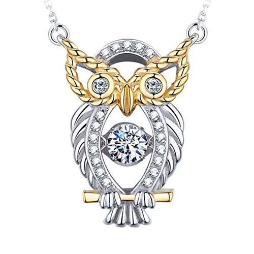 激安特価 The Owl of Minerva Designer Heart Jewelry Twinkling The Heart Owl Collection Sterling Silver Pendant Necklace【並行輸入品】, さくら工房:f18bbd23 --- airmodconsu.dominiotemporario.com