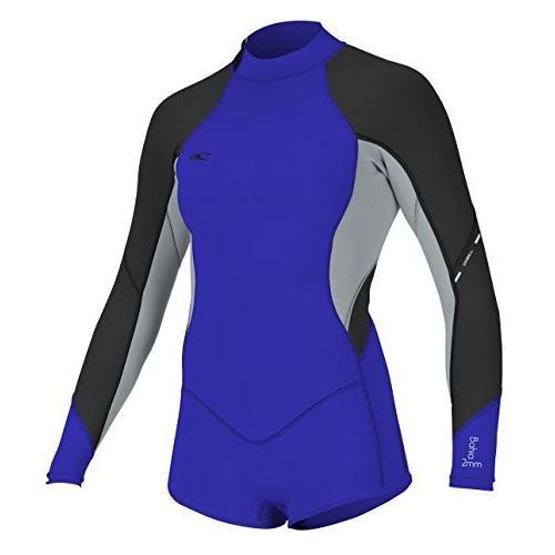 最安価格 O'Neill Women's Bahia 2/1mm Back Zip Long Sleeve Short Spring Wetsuit, Blue/Grey/Black, 8 並行輸入品, ブランドショップ【ビープライス】 cc2c1b66