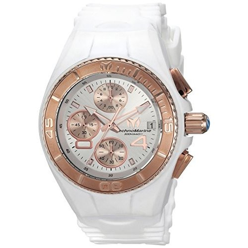 当店在庫してます! Technomarine Women's Cruise Stainless Steel Quartz Watch with Silicone Strap, White, 24 (Model: TM-115362) 並行輸入品, 谷和原村 c900fe15