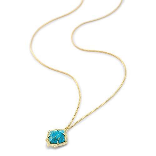 【翌日発送可能】 Kendra Scott Plated Kacey Pendant in Necklace in Gold Plated & Scott Bronze Veined Turquoise【並行輸入品】, SESオフィシャルショップ:769d9ea8 --- airmodconsu.dominiotemporario.com