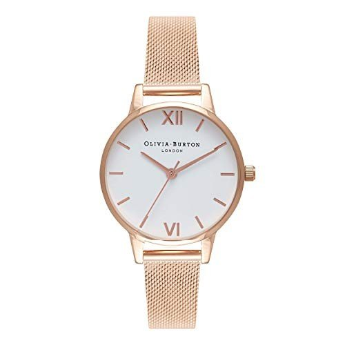【再入荷】 Olivia Burton Womens Analogue Quartz Watch with Stainless Steel Strap OB16MDW01 並行輸入品, クオリアル -暮らし応援家具SHOP- d8401a5e