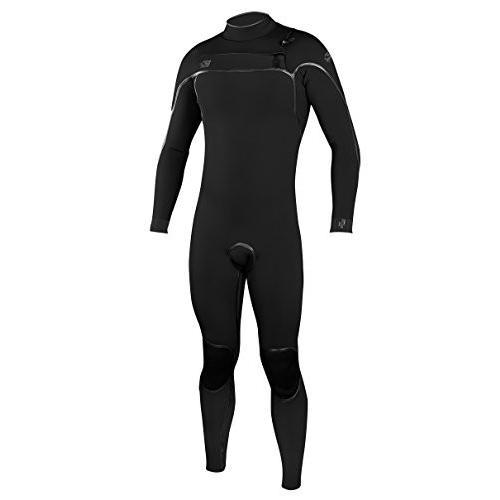 完璧 O'Neill Men's Psycho One 3/2mm Chest Zip Full Wetsuit, Black/Black, Medium Short 並行輸入品, yパック 57a57fbb
