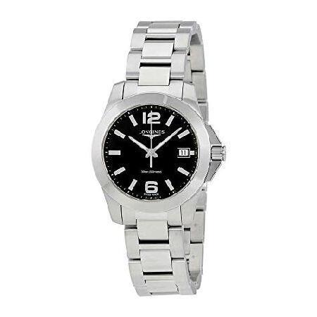 【★安心の定価販売★】 ロンジン Longines Conquest Black Dial Ladies Watch L33774586 並行輸入品, 知床興農ファームWEB直売店 eacc02c6
