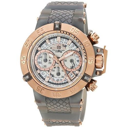 【★安心の定価販売★】 インビクタ Invicta Women's Subaqua Stainless Steel Quartz Watch with Silicone Strap, Grey, 24.5 (Model: 24380) 並行輸入品, オリジナルTシャツ プリント番長 ee06ceb2