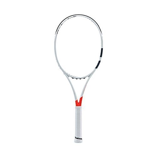 使い勝手の良い Babolat 2017 Pure Strike 16x19 Silver/Orange Tennis Racquet (4 1/4