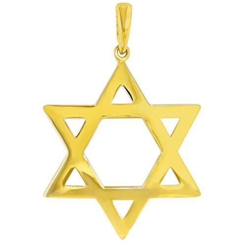【スーパーセール】 14k Yellow Star Gold Pendant Medium Star of David Pendant with High High Polish【並行輸入品】, ZIGs SELECTION:3365b54b --- airmodconsu.dominiotemporario.com