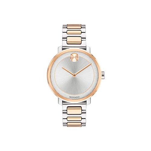 最新コレックション Movado Women's BOLD Sugar Dial 2-Tone Watch with a Flat Dot, Silver/Gold/Pink (3600504) 並行輸入品, かばん専門ショップ Water mode ad6c6d9f