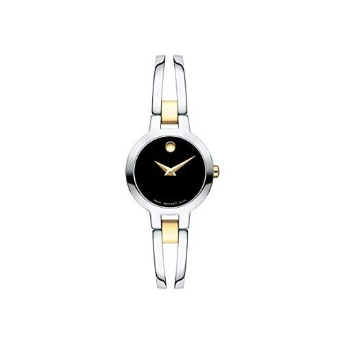 人気ブラドン Movado Amorosa, Stainless Steel Case, Black Dial, Stainless Steel Yellow Pvd Bangle, Women, 0607184 並行輸入品, カニエスポーツ 1573e207