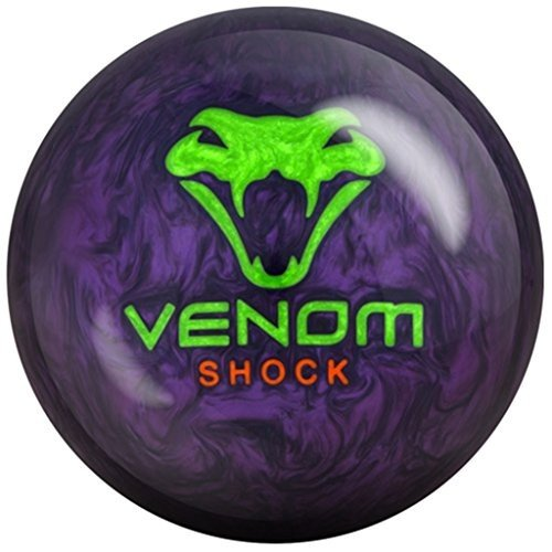 輝い Motiv Venom Shock Pearl Bowling Ball Purple Pearl/Green/Orange, 15lbs 並行輸入品, 河沼郡 e54b1494
