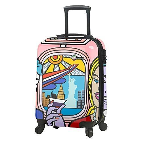 訳あり商品 Mia Toro Italy-Jozza Airplane Hardside Spinner Carry-on, JZA【並行輸入品】, マキシン 959c8054