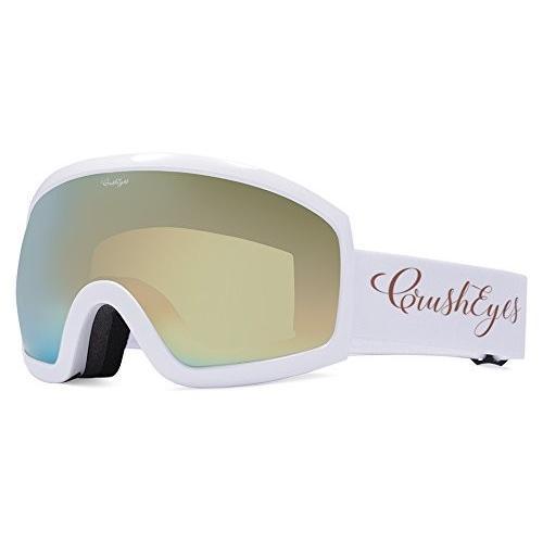 【人気沸騰】 CrushEyes GCSPBEVEGWG Lens, Eve Goggle, with with Gold Chrome Lens, Large, Large, White Gloss【並行輸入品】, 高い素材:462d7a93 --- airmodconsu.dominiotemporario.com