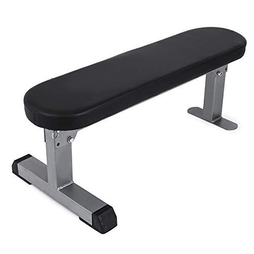 品質のいい Popsport 440LBS Flat Bench Utility Flat Weight Bench Heavy Duty Weight Lifting and Ab Workout Padded Bench for Home or Commercial Gym (Adjustable Flat, 人形の伏見屋 8602a4ff