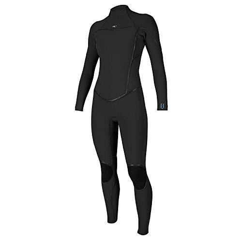 【在庫限り】 O'NEILL Women's Psycho ONE 4/3 BZ Full Wetsuit, Black/Black/Black, 6 並行輸入品, イーメガネ 353dc584