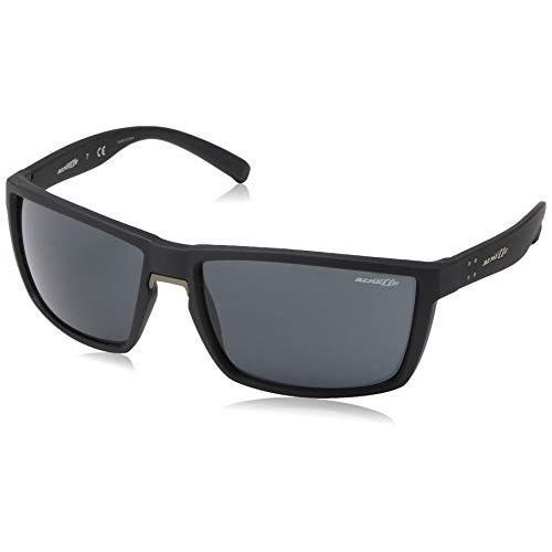 素敵な Arnette Men's AN4253 Prydz Rectangular Sunglasses, Black Rubber/Grey, 61 mm【並行輸入品】, ハイベル オンラインショップ 1d24faa6