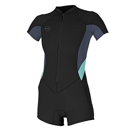 人気大割引 O'Neill Wetsuits Women's Bahia 2/1mm Full Zip Short Sleeve Spring, Black/Dusk/Seaglass, 10 並行輸入品, 素材屋さん 13e16831