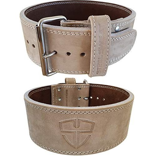 日本限定 Steel Leather Sweat Weight Lifting - Belt - 4 Oat Inches Wide by 10mm - Single Prong Powerlifting Belt That's Heavy Duty - Vegetable Tanned Leather - Oat Medium【, 業務用製菓材料のスイートキッチン:afab4b46 --- airmodconsu.dominiotemporario.com