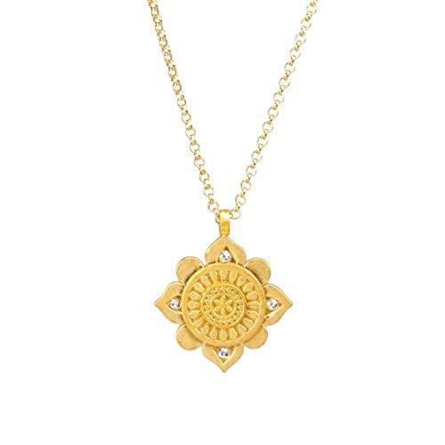 【驚きの値段】 Dogeared You're One of A Kind, Crystal Mandala Necklace Gold One Size【並行輸入品】, Rakuten BRAND AVENUE Outlet f2d36eed