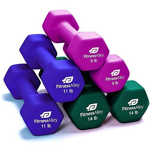 新素材新作 Fitness Alley Neoprene Dumbbells (3 - Free Free Weights Hex Neoprene Hand Weights - Dumbbell Pairs Combo Set (3 Pairs Dumbbells (9LB, 11LB, 14LB)【並行輸入品】, 千倉町:67cecc5e --- airmodconsu.dominiotemporario.com