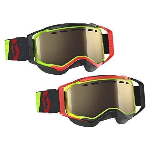 爆売り! Scott Prospect Adult Snowmobile Goggles - Yellow/Red/Bronze Chrome/One Size【並行輸入品】, チクマシ a94f1911