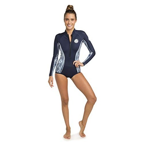 ホットセール Rip Curl G Bomb Long Sleeve Bikini Cut Springsuit Wetsuit, Black/White, 4 並行輸入品, チトセシ d968326b