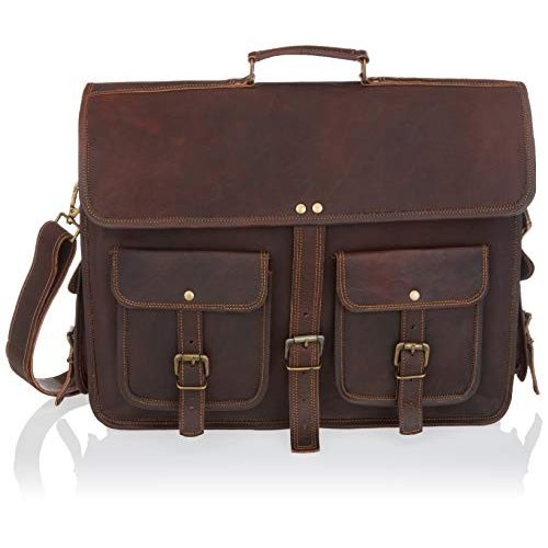 Men Leather Messenger Briefcase Laptop Shoulder Bag Office Computer Satchel New