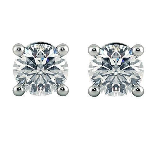 豪華で新しい IGI Stud CT, CERTIFIED 1.00 Carat (ctw) Round Lab Grown Diamond White Ladies Stud Earrings 1 CT, 14K White Gold【並行輸入品】, 楽器天国:e1903602 --- airmodconsu.dominiotemporario.com
