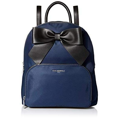 【2019正規激安】 Karl Bow Lagerfeld Lagerfeld Paris Kris Nylon Nylon Bow Backpack, Navy/Black【並行輸入品】, one clothing:d6fc852d --- fresh-beauty.com.au