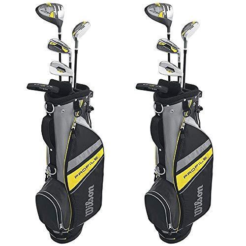 品質検査済 Wilson Profile Complete Junior Right Hand Golf Club Set w/Yellow Bag (2 Pack)【並行輸入品】, 瀬高町 0a3e70d8