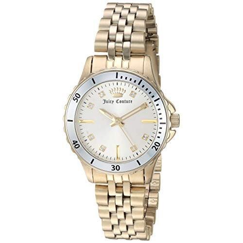 低価格で大人気の Juicy Couture Black Label Women's Swarovski Crystal Accented Gold-Tone Bracelet Watch 並行輸入品, 【本日特価】 6e93f42a