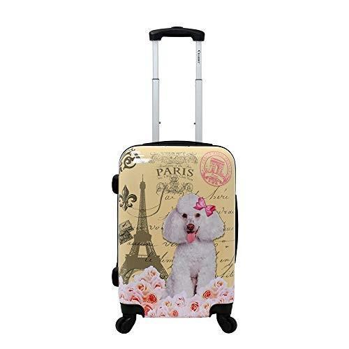 【メーカー直売】 Chariot Paris Poodle 20-Inch Lightweight Spinner Carry-On Upright Suitcase【並行輸入品】, エフタイム cba7fcaa
