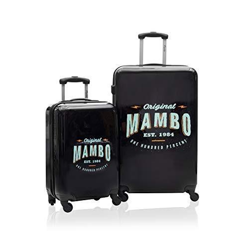 【GINGER掲載商品】 Mambo Hardside Wheeled 2-Piece Luggage Set Black【並行輸入品】, ネルパラ 4fa33cf5