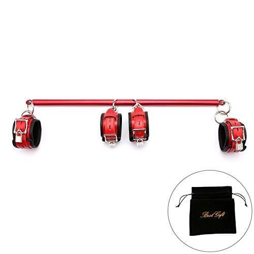 【メーカー公式ショップ】 exreizst Adjustable Red Expandable exreizst Spreader Aid Bar with Leather Set Straps Set Home Sports Aid Training Kit (Red)【並行輸入品】, parisrose:1ede51e6 --- airmodconsu.dominiotemporario.com