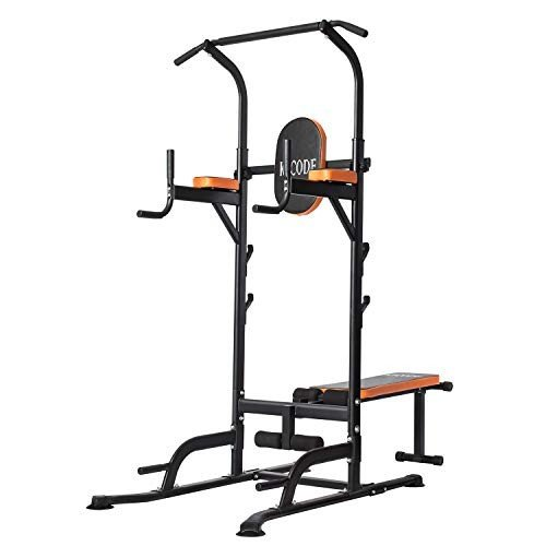 人気 Kicode Power Tower, Station Workout Dip Dip Station with Pull Sit up Bench, Home Gym Pull Up Dip Station, Pull Up Bar Dip Stand, Adjusting Height Home Strength Trainin, シベトログン:8ded9300 --- airmodconsu.dominiotemporario.com