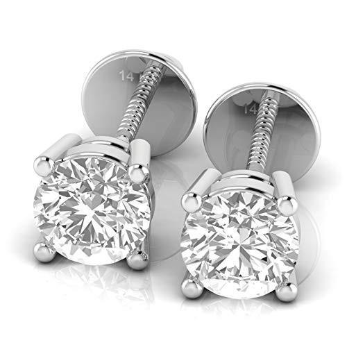 最新エルメス Valentine Gifts for her Certified Lab for Grown Certified 1 in carat FG, VS2-SI1 Diamond stud earrings for Women in 14K White Gold【並行輸入品】, ウトグン:114ba5fb --- airmodconsu.dominiotemporario.com