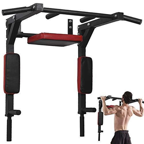 使い勝手の良い Besthls Wall Mounted Pull Up Bar Multifunctional Chin -up Bar, Dip Stand for Indoor Home Gym Workout, Power Tower Set Support to 440Lbs【並行輸入, 三陸山田 びはん 3dc92e1b