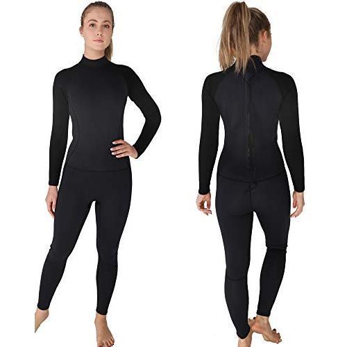入園入学祝い DEHAI Men Women's Full Wetsuits Thermal Suit Sleeves 3mm Neoprene Youth Adult's Diving Swimming Snorkeling Surfing Scuba Jumpsuit Warm Swimwear (Women, ヤチヨマチ 834d2e48