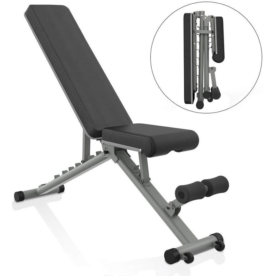 独特の上品 BARWING YouTen 4way Adjustable Bench Full Body Workout Decline/Flat/Incline Bench for Home Gym Gray【並行輸入品】, 京都きものレンタル 8dbd495c
