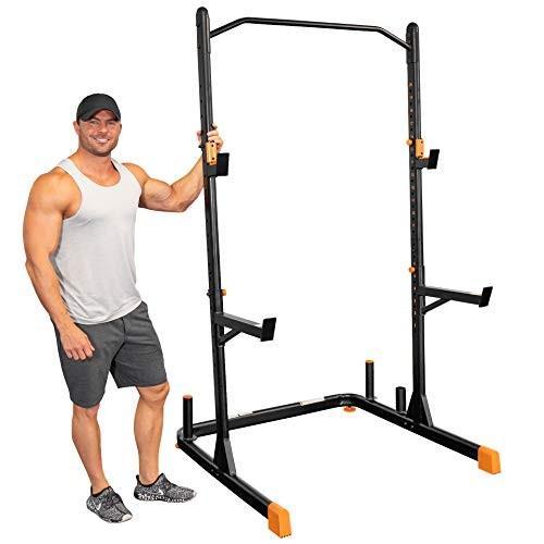 【激安】 GRIND Fitness GRIND Alpha2000 Squat Stand, Exercise Rack with Barbell Arms, Holder Holder and Weight Storage Pegs, Lifting Spotter Arms, 1000 lbs Weight Limit, Textured, 住用村:4d4c7f9f --- airmodconsu.dominiotemporario.com