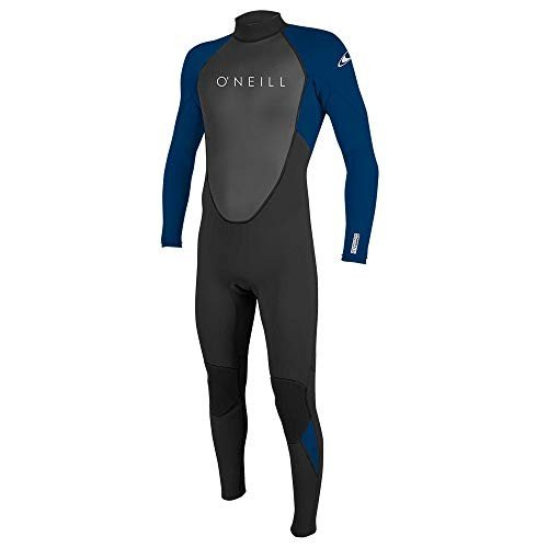【驚きの値段で】 O'Neill Men's Reactor II 3/2mm Back Zip Full Wetsuit, Black/Deep Sea, X-Large 並行輸入品, 良品特価 【モノイズム】 1ef13585