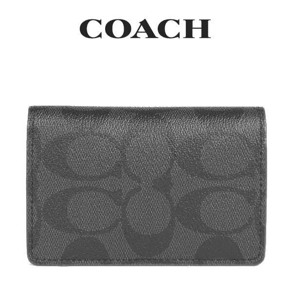 【正規品】 コーチ COACH メンズ 小物 91633 名刺入れ メンズ 91633 小物 QBLWO(ブラック×ブラック), 123market:6ee456f4 --- grafis.com.tr