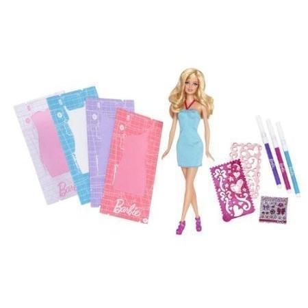 Barbie Fashion Design Plates Dress and Doll