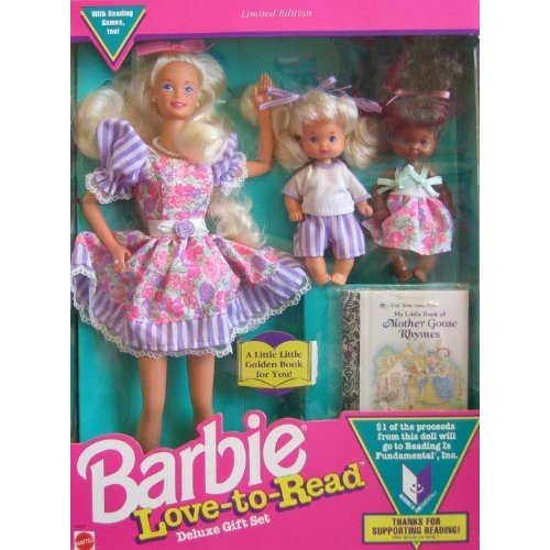 Barbie Love To Read Deluxe Gift Set w 3 Dolls & Mini Book - Limited Edition (1992)